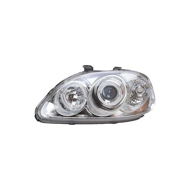 Angel Eyes Forlygter Honda Civic 95-99 Chrome