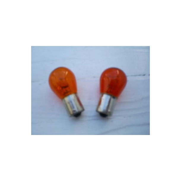 Blinklyspære Orange 21Watt ( 2 pak)