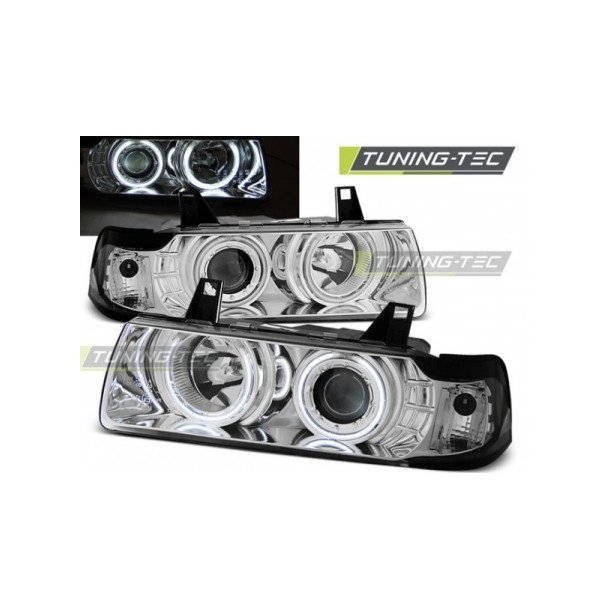 BMW E36 12.90-08.99 C/C ANGEL EYES FORKYGTESÆT CHROME