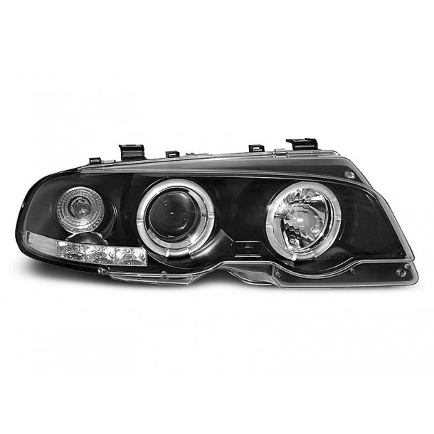 BMW E46 04.99-03.03 COUPE ANGEL EYES BLACK COUPE, CABRIO