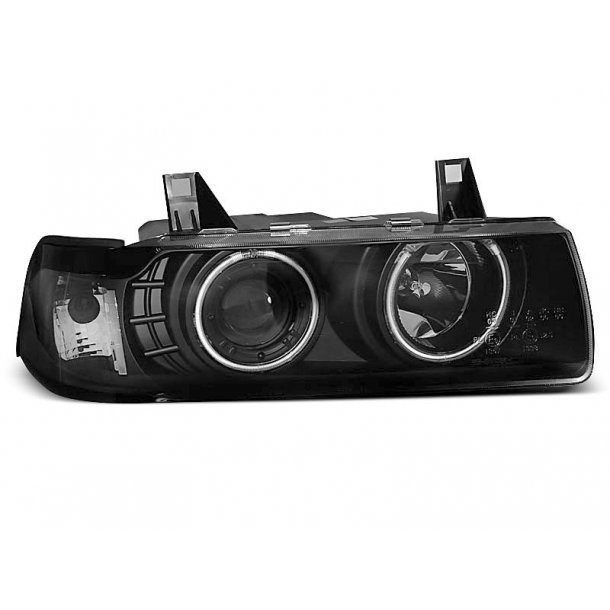 BMW E36 12.90-08.99 S/C/T ANGEL EYES BLACK LIMOUSINE, TOURING, COMPACT