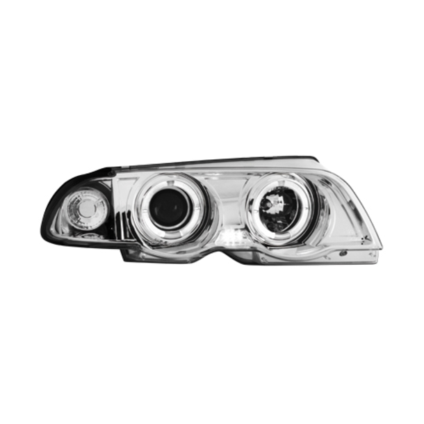 Angel Eyes Forlygter BMW E46 LIM CHROME