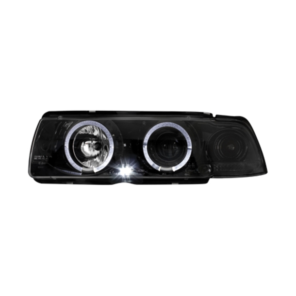 Angel Eyes Forlygter BMW E36 COUPÉ/CABRIO BLACK CHROM