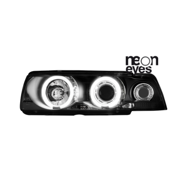 Angel Eyes forlygter BMW E36 COUPÉ/CABRIO 92-98 BLACK
