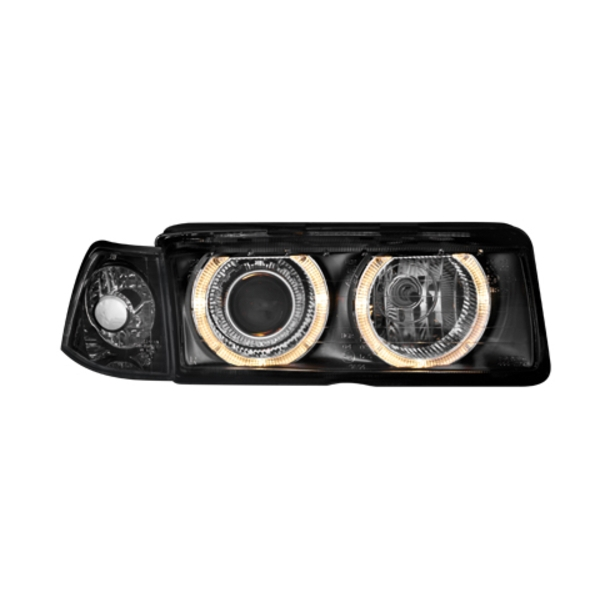 Angel Eyes Forlygter BMW E36 LIM. BLACK