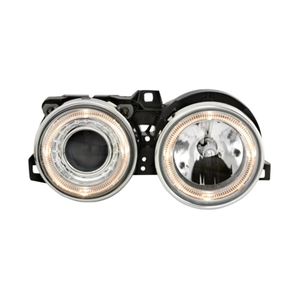 Angel Eyes forlygter BMW E30 09.87-10.90 CHROME