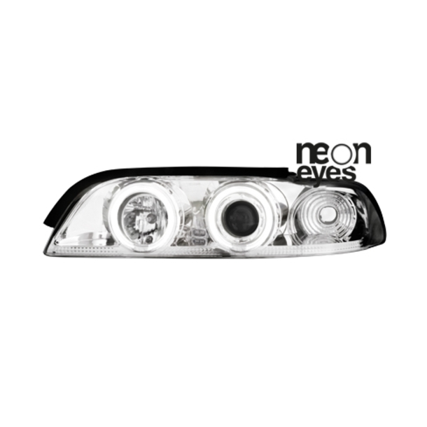 Angel Eyes forlygter BMW E39 5ER 95-00 CHROME