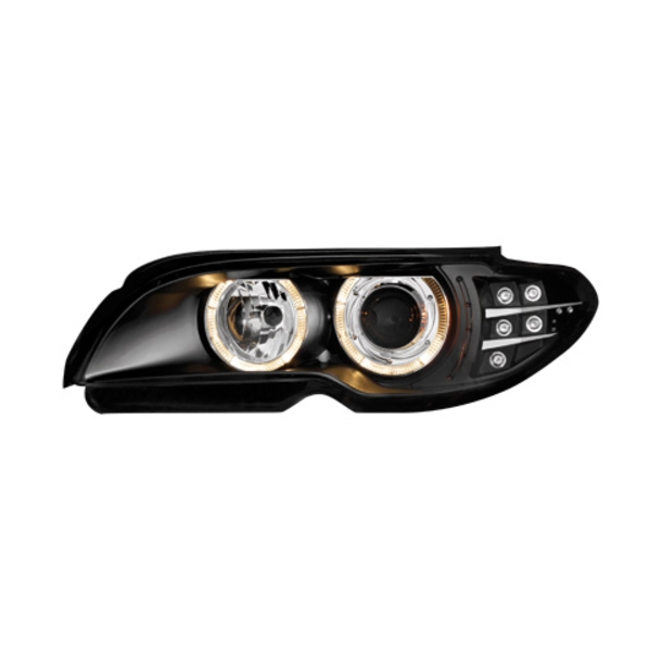 Angel Eyes forlygter BMW E46 2D 03-06_BLACK