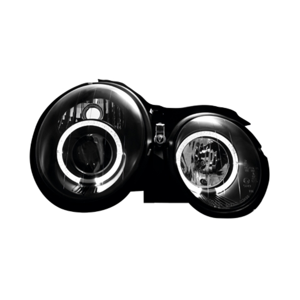 Angel Eyes Forlygter M. BENZ W208 CLK 97-02 BLACK