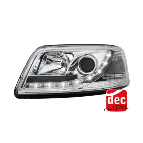 D-LITE LED forlygter VW T5 03-09 DRL design chrome